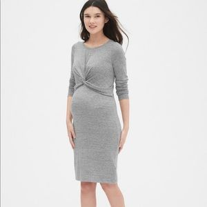 Long sleeve maternity sweater dress